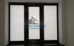 Кассетные шторы коричневая комплектация ст.Новотитаровская