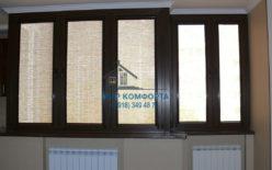 Кассетные шторы в квартире коричневая комплектация ФМР